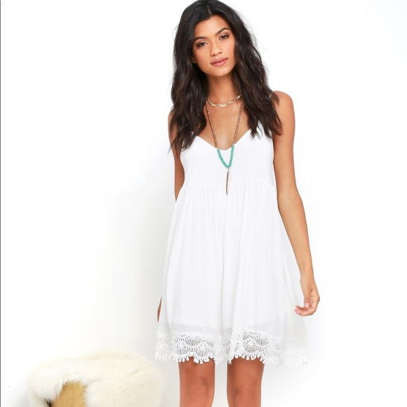 Lulu's Dresses & Skirts - Lulu*s Rhiannon Ivory Lace Babydoll Dress